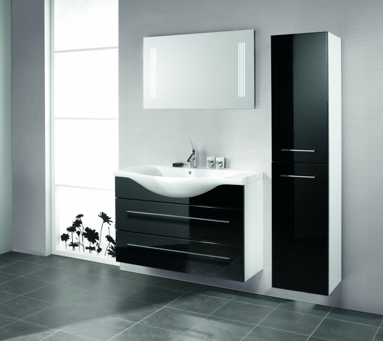 lavabo color negro muebles bao