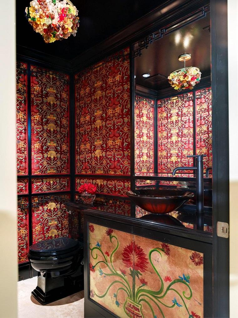 lavabos preciosos puertas decorativas banos pequenos modernos