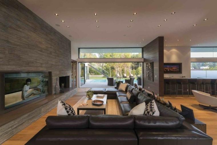 led muebles cojines barra sofa amplio cuero