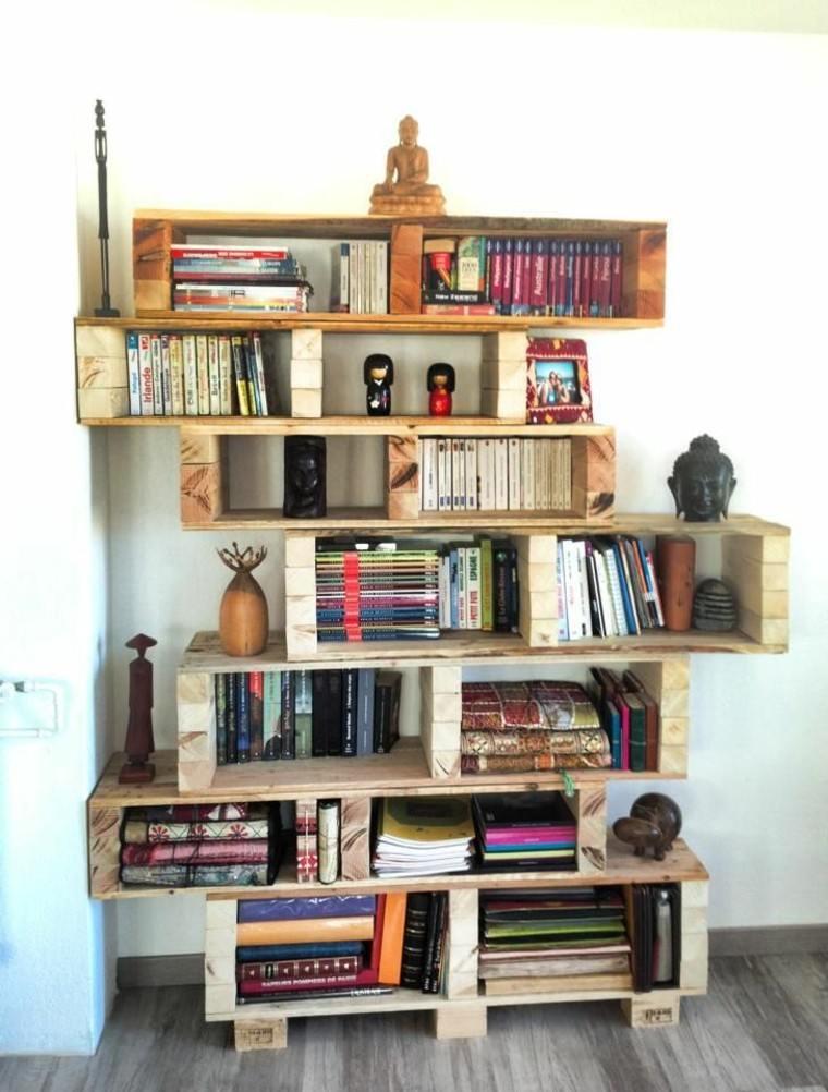 Muebles hechos con palets 100 ideas para el hogar - Estantes para libros ...
