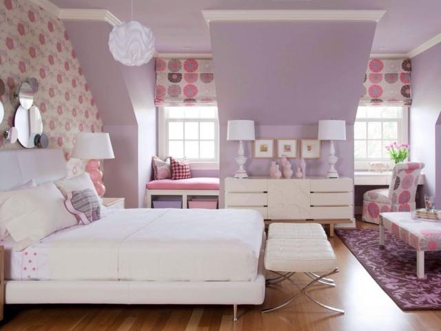 lila rosa decoracion cuarto