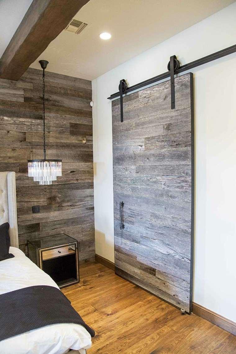 Puertas correderas de madera para el cuarto de ba o - Puertas correderas interior rusticas ...