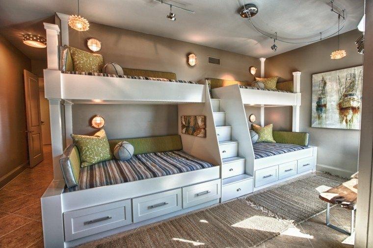 litera blanca madera espacio niños infantil