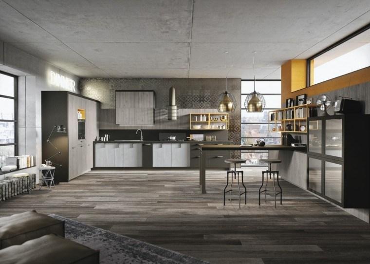 loft moderno estilo industrial gris