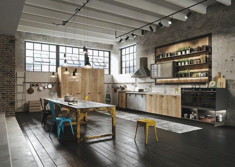 Loft y cocina con dise o de estilo industrial y r stico - Loft de diseno ...