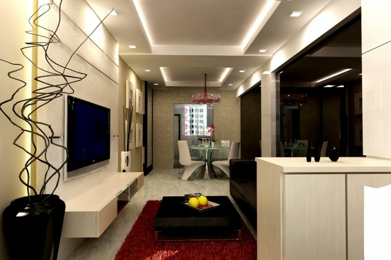 luces led integradas techo sala
