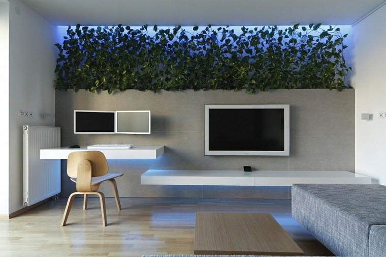 Iluminacion indirecta led salon y salas de estar - Luces led jardin ...