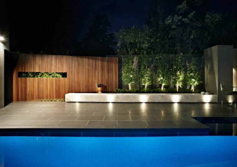 luces led lamparas exterior piscina