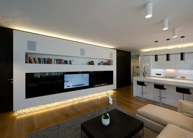 luces led mueble salon suelo