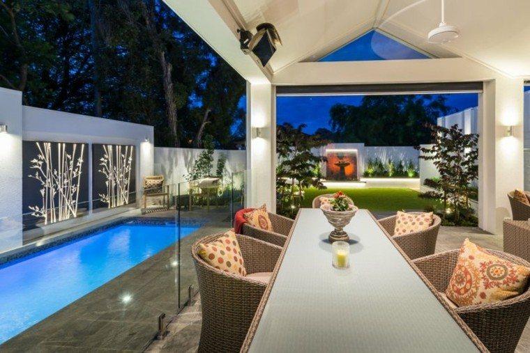 luces led piscina creativa comedor