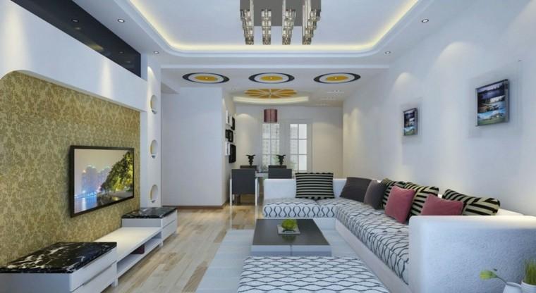 Iluminacion indirecta led salon y salas de estar for Techos salones modernos