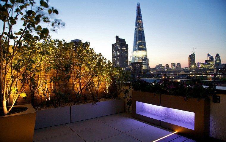 Ideas para terrazas patios o balcones acogedores - Luces led para terrazas ...