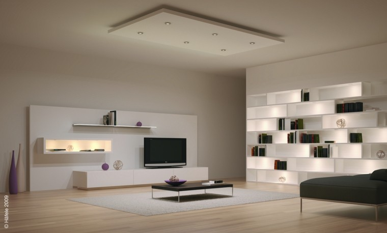salon luces led muebles