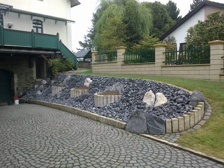 lugar piedras entrada casa muro pequeno ideas originales