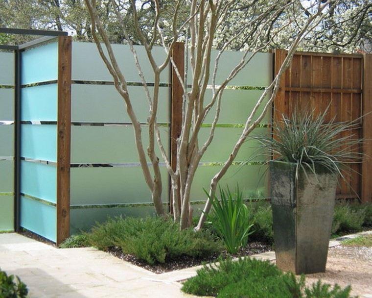 Modern Fence Ideas Backyard : Dise?o de jardines modernos  100 ideas impactantes