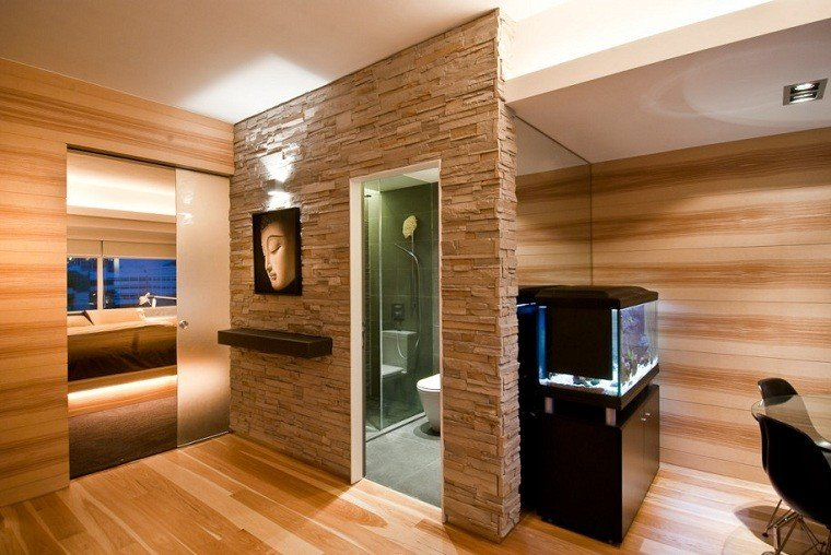 madera moderno roca combinado zen