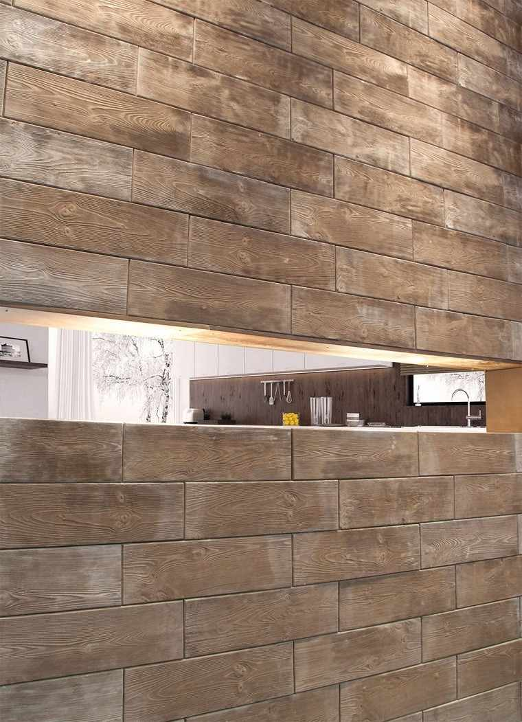 Revestimiento de paredes interiores creatividad y estilo for Revestimiento pared imitacion madera