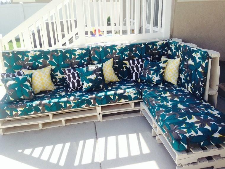 madera patio mueble diy sofa amplio