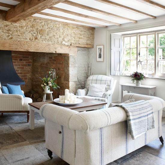 madera piedra mesa muebles comodos blanco ideas