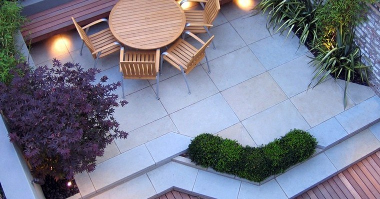 madera sillas mesa exterior teca patio