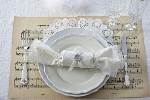 manteles partituras decoracion clasica
