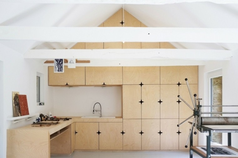 maquina cocina blanco diseño techo