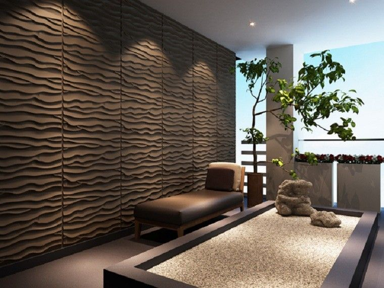 marron planta panel textura zen espacio