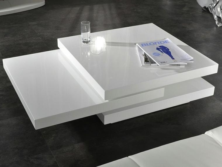 mesa blanca salon moderna niveles