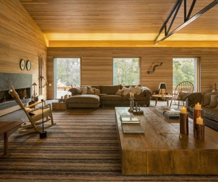 mesa cafe grande madera sillas balanceante ideas