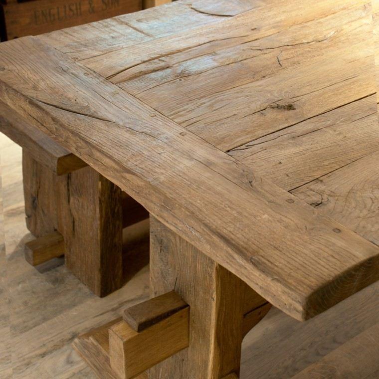 Mesas de cocina modernas pr cticas y funcionales - Mesas rusticas de cocina ...