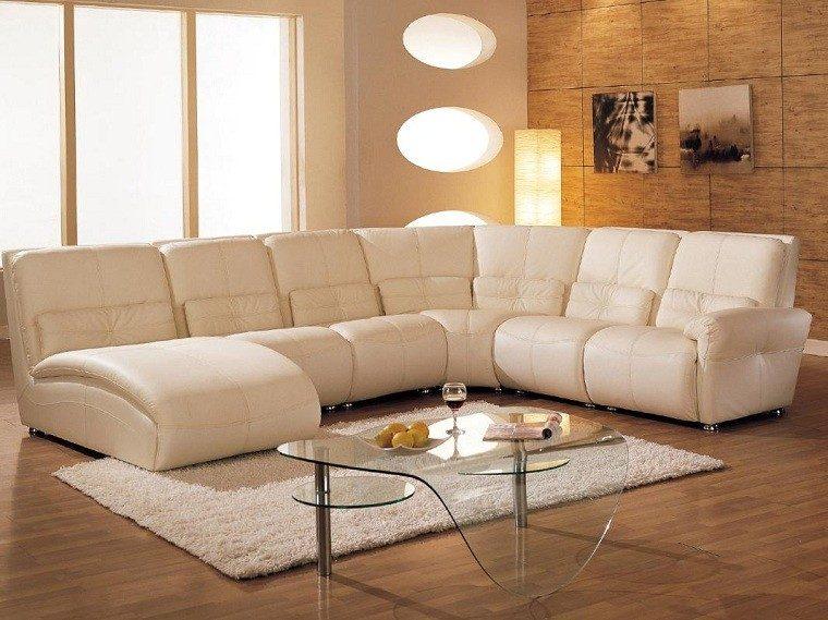 mesa cristal blanco mueble transparente