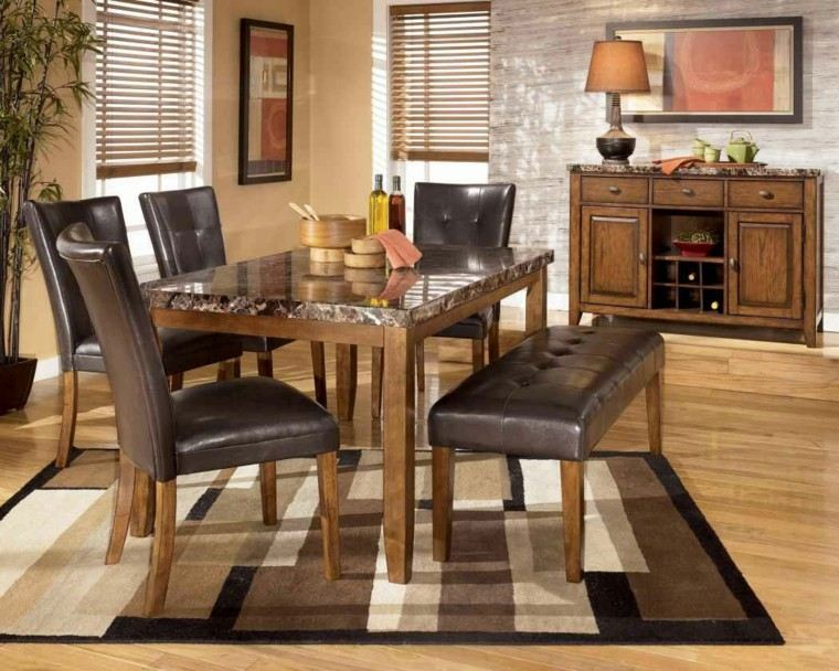 mesa cuero lampara estilo bambu