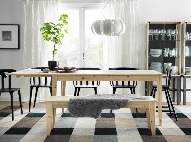 mesas de cocina madera banco