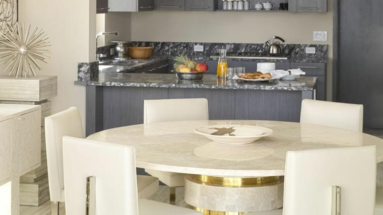 mesas de cocina mármol