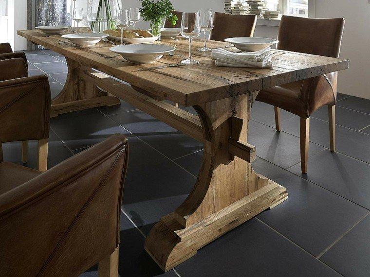 Muebles rusticos aires campestres para todo espacio for Mesas para comedores pequea os