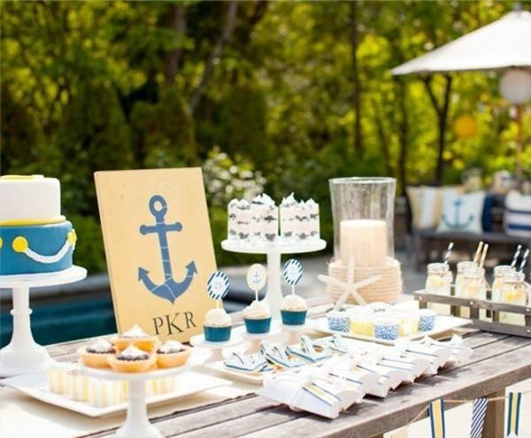 mesa fiesta infantil tema marinero