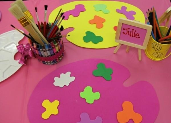 mesa fiesta infantil rosa colores