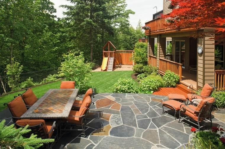 mesa larga colonia forja suelo resistente