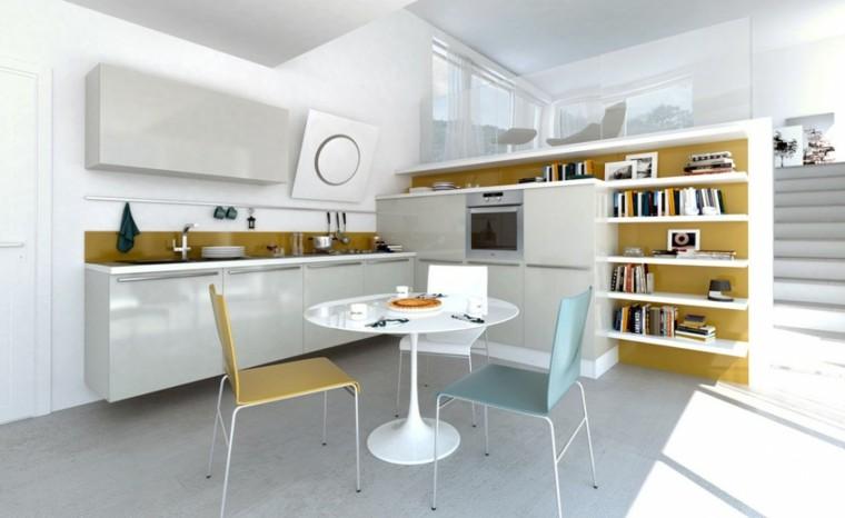 Mesas De Cocina Blancas | Mesas De Cocina Modernas Practicas Y Funcionales