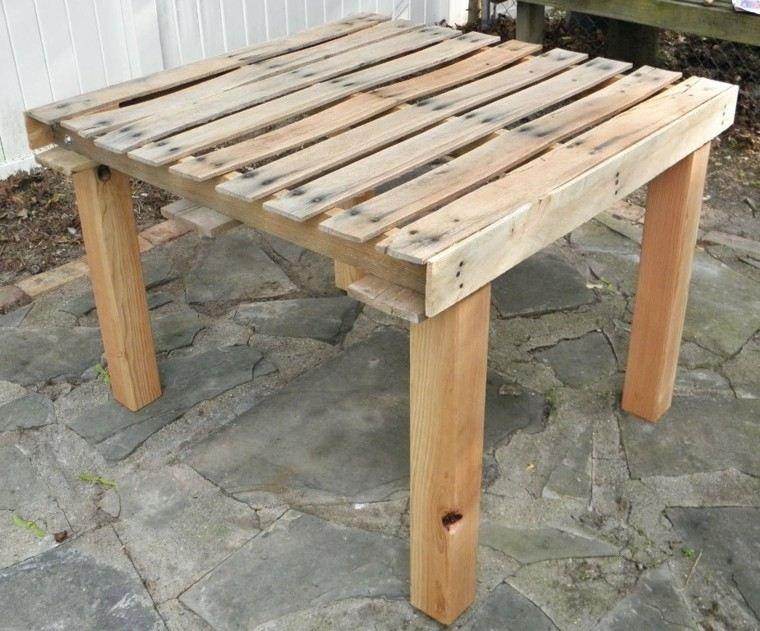 Muebles hechos con palets de madera cincuenta ideas - Mesas de madera hechas a mano ...