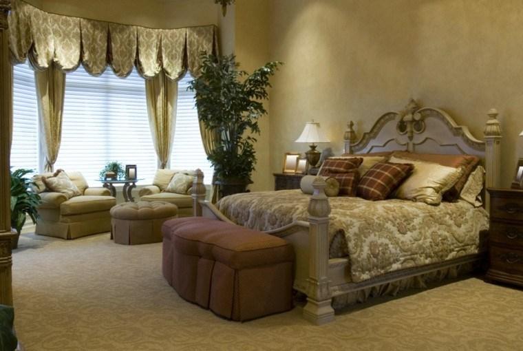 mesa sillones taburete dormitorio bonito ideas