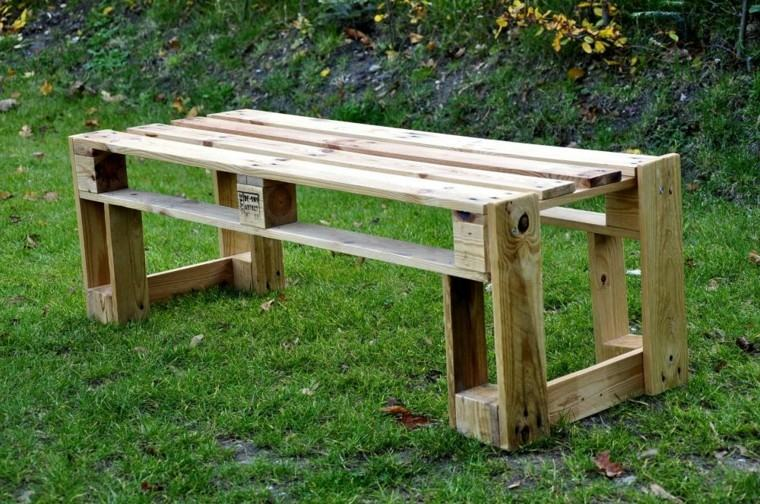 mesa jardin simple palets madera