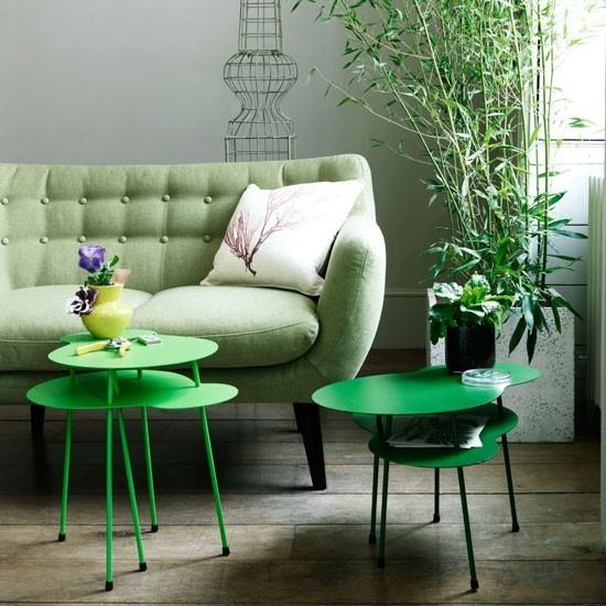 mesas cafe metal color verde sofa planta ideas