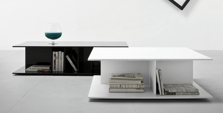 mesas salon blanca negra diseño
