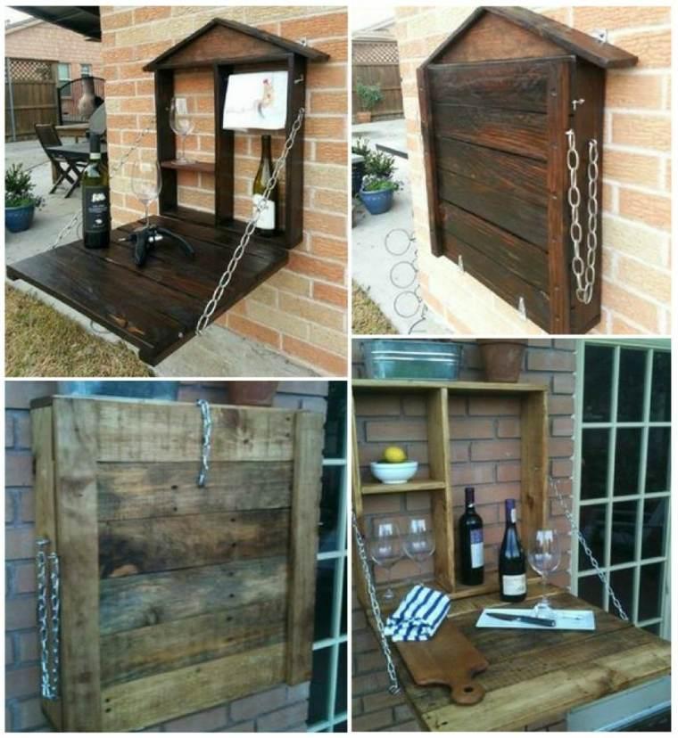 Muebles hechos con palets 100 ideas para el hogar for Paredes de madera para jardin