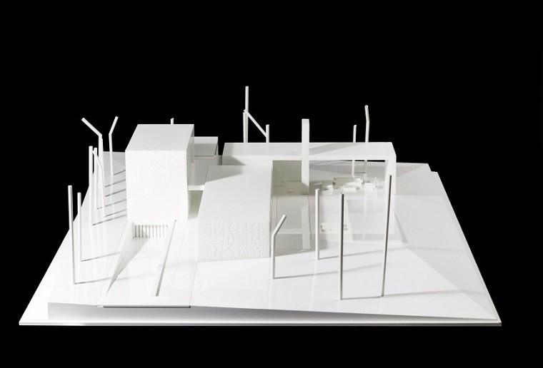 modelo maqueta ejemplo casa bosque