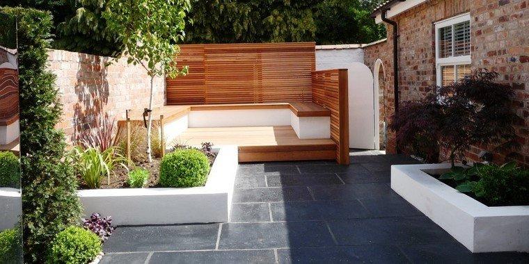moderno jardinera blanco decoracion muro