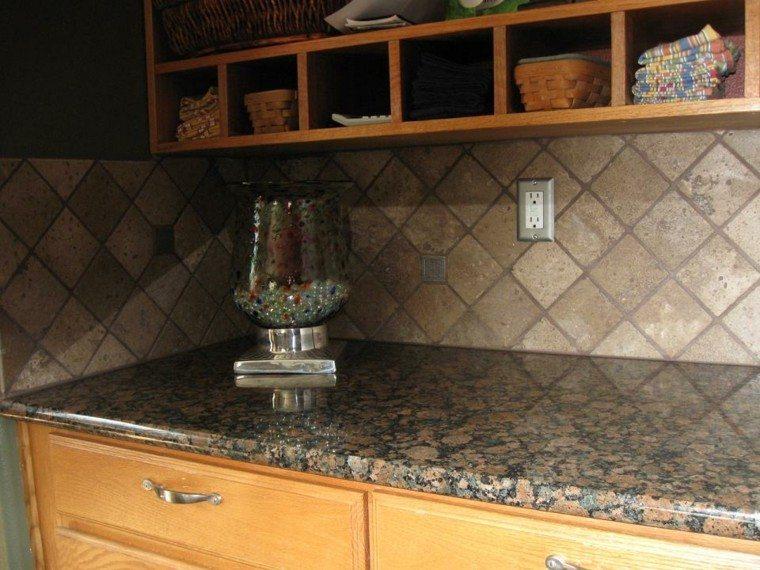 mozaico travertino cocina tradicional azulejos