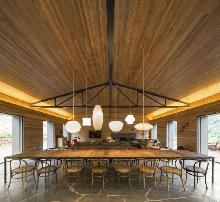mucha madera laminados techo pared