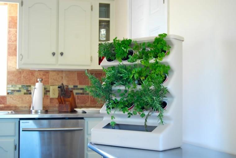 mueble jardinera plantas cocina hierbas